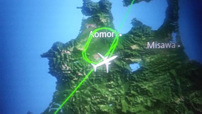 飛行機、青森を旋回-摂理☆日本縦断