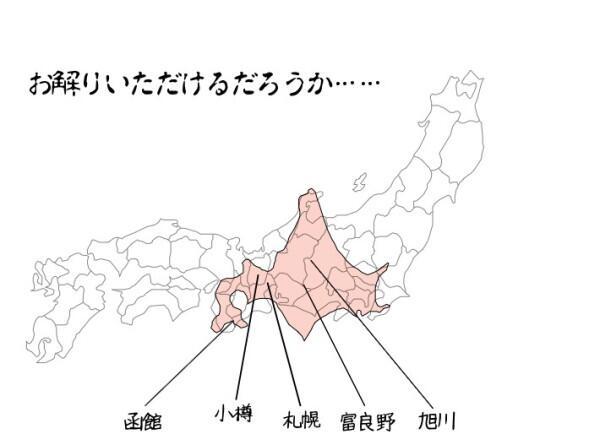 北海道と本州の比較図