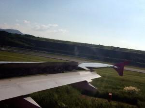 飛行機からNAGASAKI